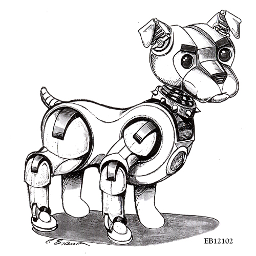 Robotic Dog Drawing This is The One i Think Nails